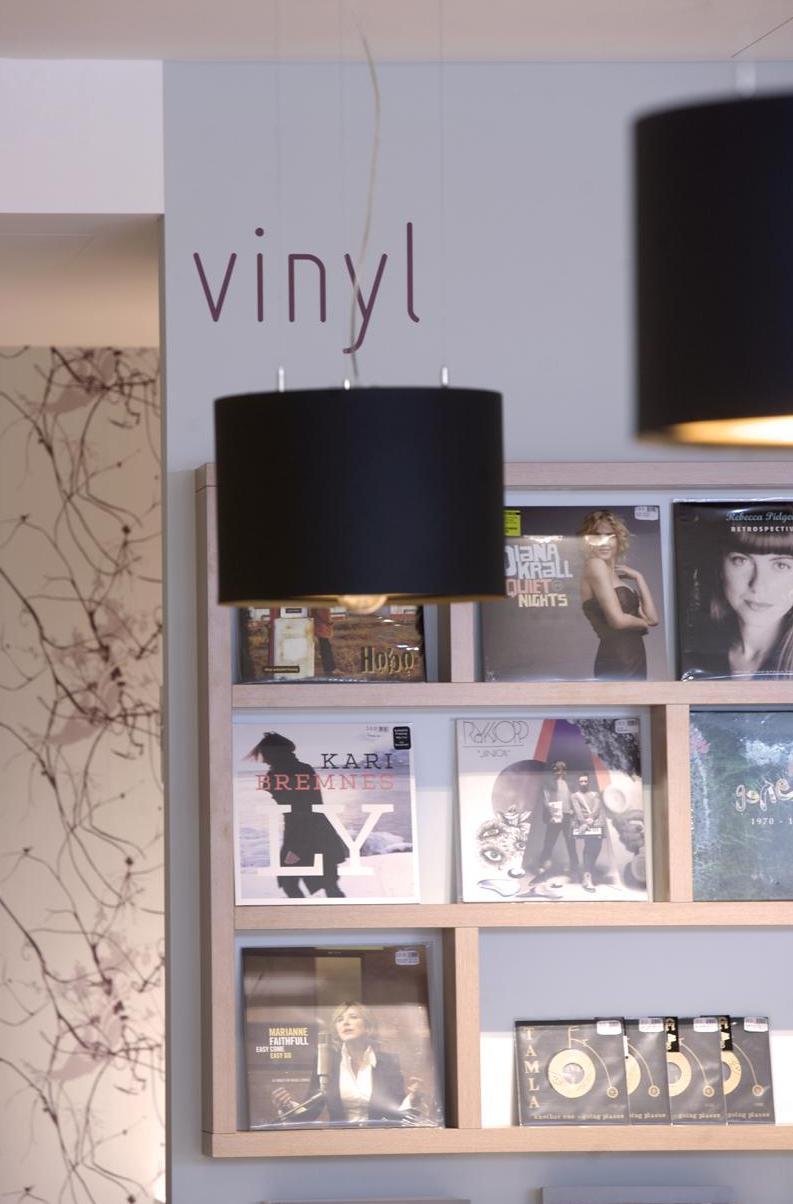 CD- und Plattenpräsentation