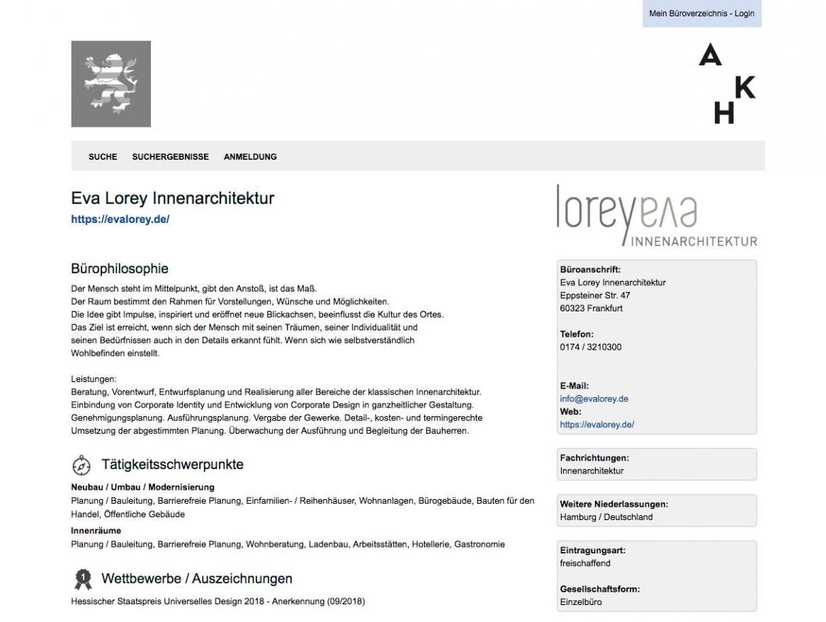 Büroverzeichnis der AKH